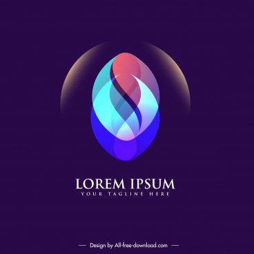 logo template modern colorful light effect decor