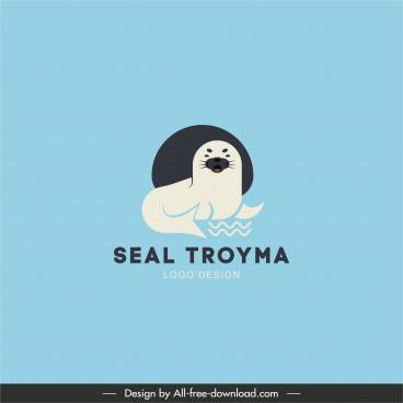 logo template seal animal sketch flat design