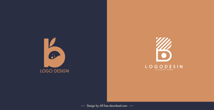 logo templates classic flat shapes sketch