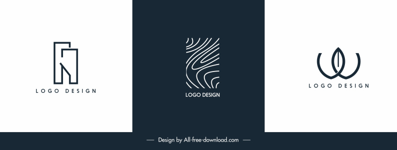 logo templates flat texts shapes abstract design