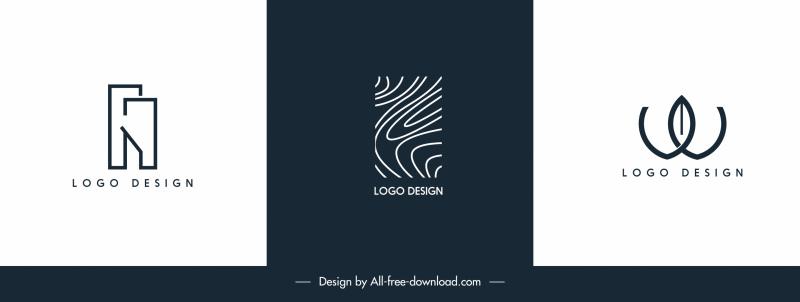 logo templates flat texts shapes abstract design