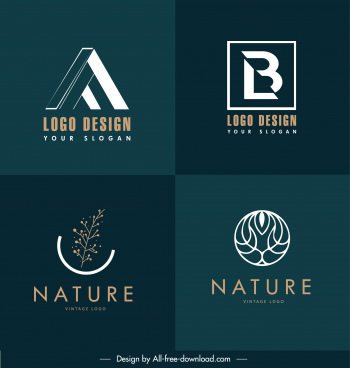 logo templates texts shapes nature elements sketch