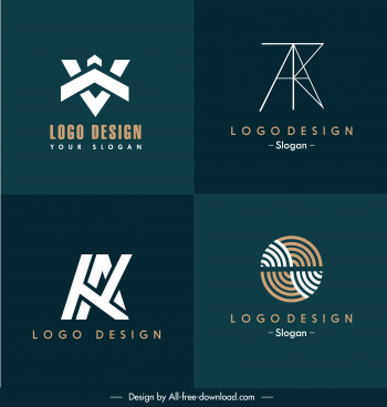 logo templates texts shapes swirled circles sketch