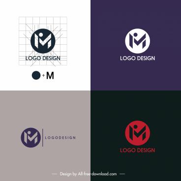 logo templates word sketch flat design