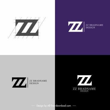 logo templates z shapes sketch flat modern