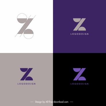 logo templates z shapes sketch flat symmetric design