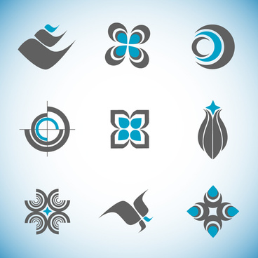 logo vector design elements with abstraction style