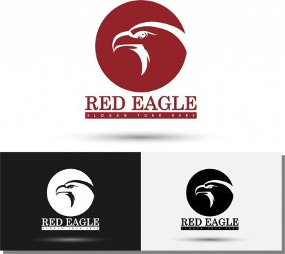 logos templates sketch eagle icon silhouette style
