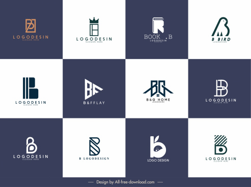 logotype template collection simple classic flat design