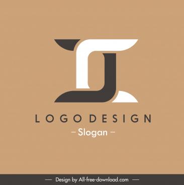 logotype template symmetric black white shape design