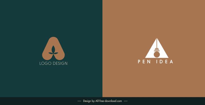 logotype templates dark classic flat symmetric shapes