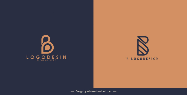 logotype templates flat shapes sketch