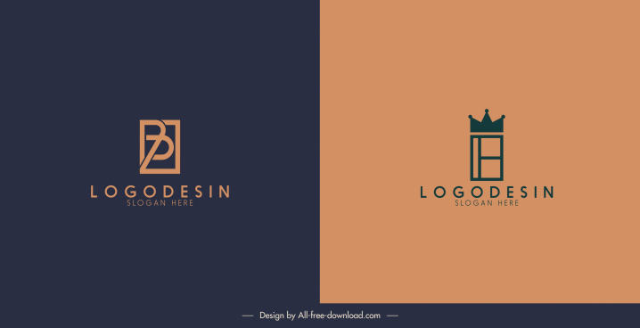 logotype templates retro flat sketch