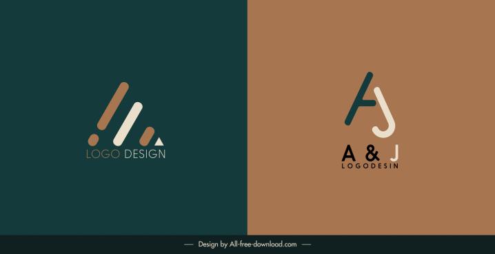 logotype templates shoe texts shapes decor flat design