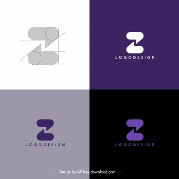 logotype templates z shape sketch symmetric speech bubbles