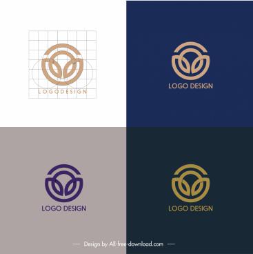 logotypes templates flat symmetric swired circle shape