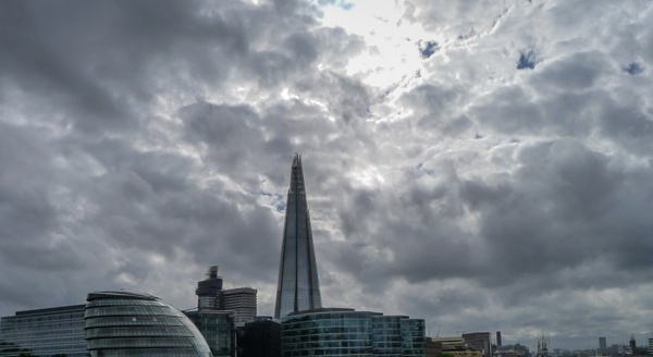 london skyline clouds