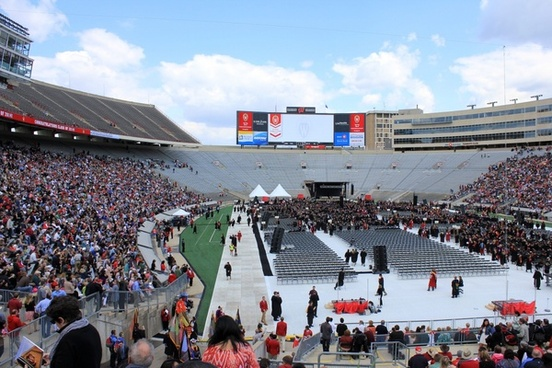 long view of camp randall in madison wisconsin
