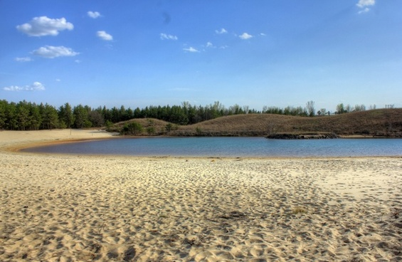 long view of the beach in the black river forest