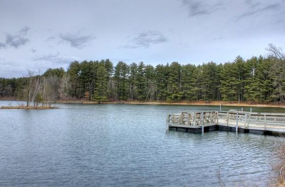 looking at a lake at hartman creek state park wisconsin