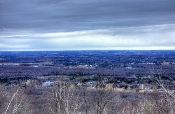 looking at town at rib mountain state park wisconsin