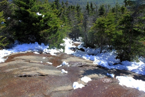 looking down in the adirondack mountains new york