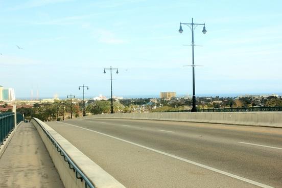 looking down the bridge at daytona beach florida