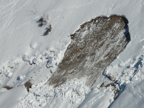 loose snow avalanches avalanche tear-off tabs
