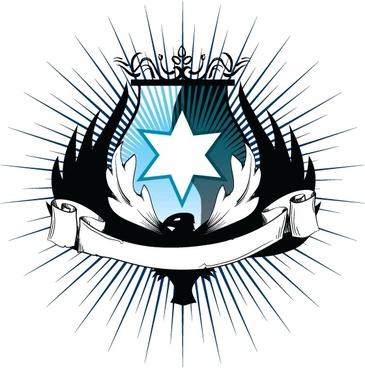 heraldry vector design with elegent style