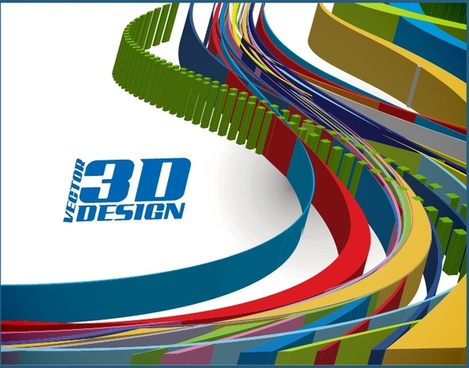 technology background colorful dynamic 3d swirled decor