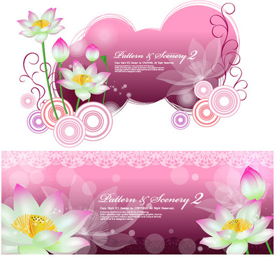 lotus fantasy background vector