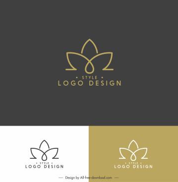 lotus logo template flat symmetric handdrawn shape