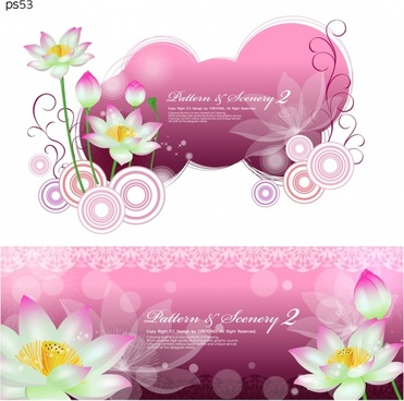 lotus flowers background bright pink decor
