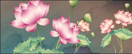 Lotus theme vector material