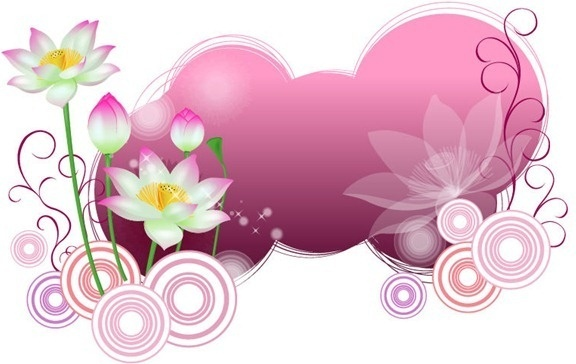 lotus with abstract background vector illustration