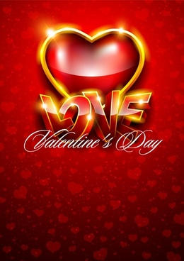 love brilliant red ribbon vector
