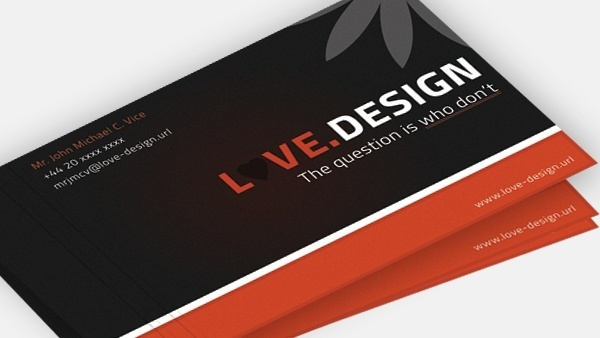 Business cards psd free psd download 195 free psd for commercial love design business card reheart Choice Image