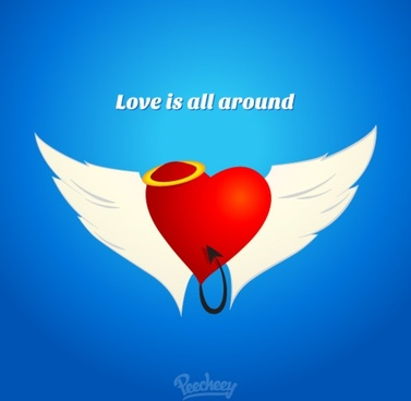 love is all around illustration