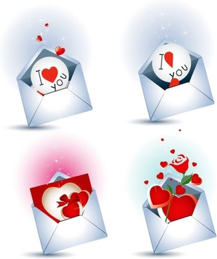 love letter theme vector