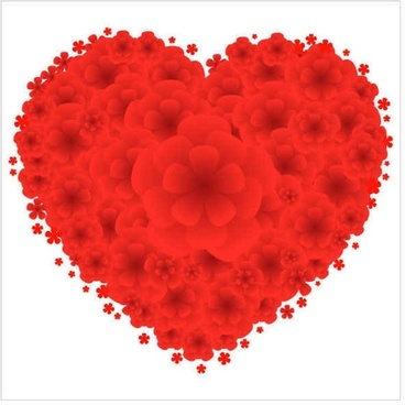 Love Red Flowers Vector Graphics