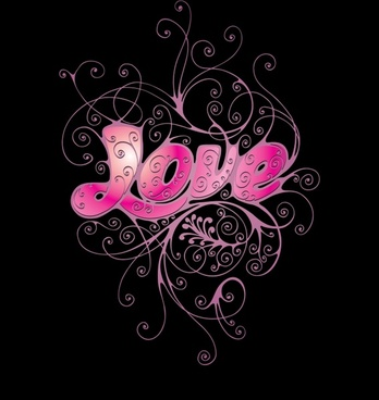 love romantic heartshaped shades vector