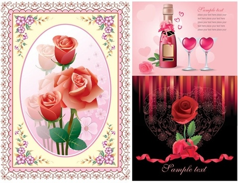 Love Rose Flower Wallpaper Free Vector Download 18625 Free Vector