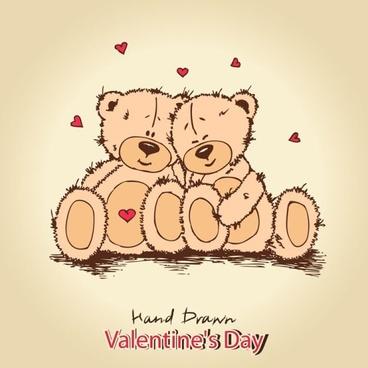 Love teddy bears background 02 vector