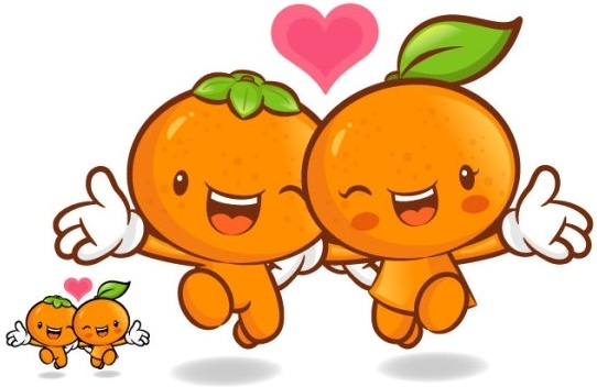 love the cartoon super fruits vector 9