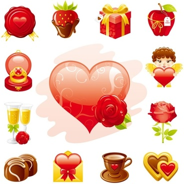 love theme icon vector