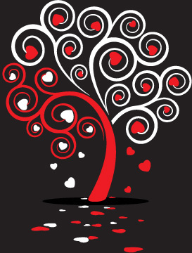 love tree vector graphic