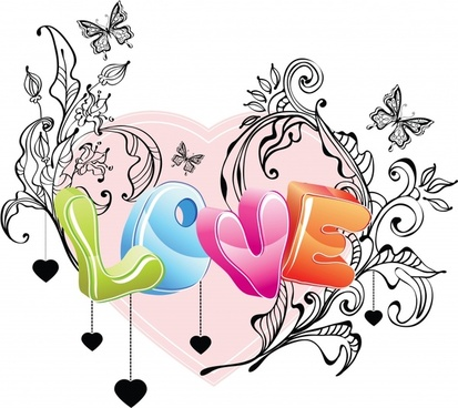 love valentine dimensional vector