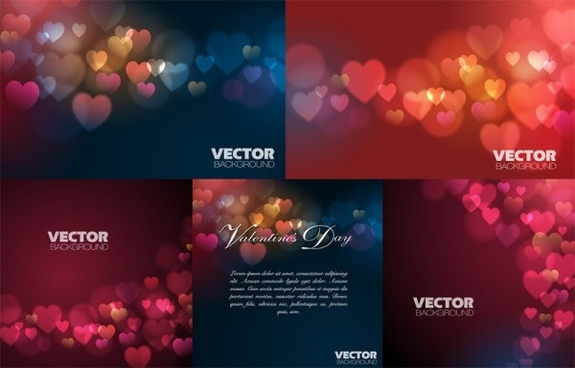 love vector background dream