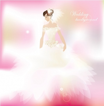 love wedding postcard bride vector