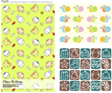 lovely background series vector 11